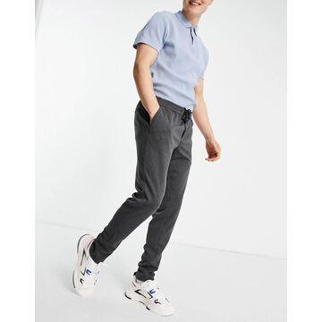 Jack & Jones Intelligence tailored jersey pants with drawstring waist in dark gray-Grey