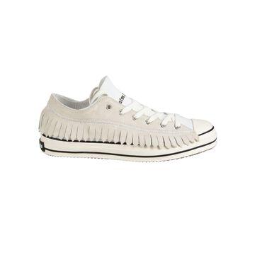 Palm Angels Fringe Basket Low Vulcanized Sneakers