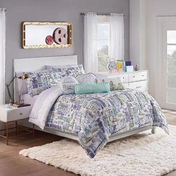 Waverly Spree Cityscape Full 3-Piece Reversible Comforter Set