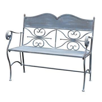 Jeco Qiang Blue Iron Garden Bench