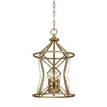 Millennium Lighting Lakewood Vintage Gold Mid-Century Cylinder Pendant Light   2293-VG