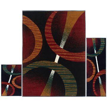 Home Dynamix Ariana Arcata Black Indoor Geometric Area Rug | 3S-HD5194-450