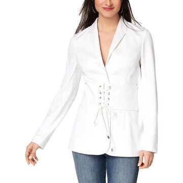 XOXO Womens Corset-Waist Long Sleeves Blazer