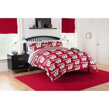 Wisconsin Badgers 5-Piece Full Bed in a Bag Comforter Set Multi