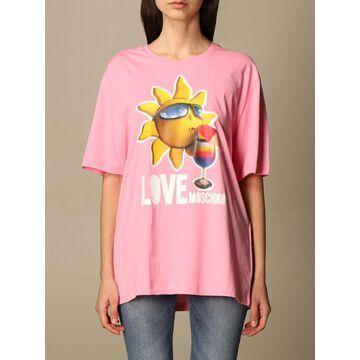 Love Moschino cotton t-shirt with logo print