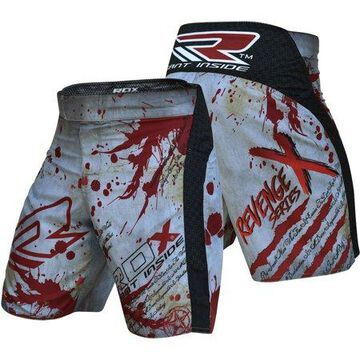 RDX R3 MMA Stretch Shorts Blood, Red/Grey, XS