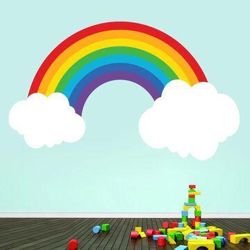 Printed Rainbow Wall Decal