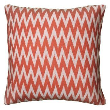 Rizzy Home Decorative Pillow, Coral