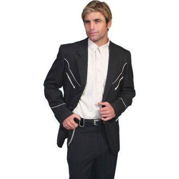 Scully Men's Button-Front Western Blazer, P-656-BLK-38