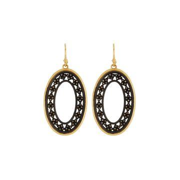 Crivelli Two-Tone Diamond Oval Earrings