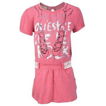 John Galliano Pink Printed Cotton Jersey T-Shirt Dress 9 Months