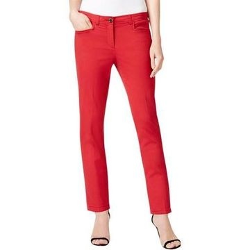Anne Klein Womens Twill Bowie Casual Pants