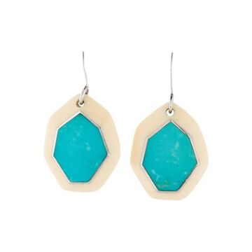 Resin & Turquoise Drop Earrings silver