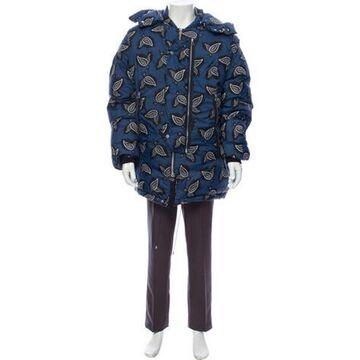 Oamc Printed Coat Blue Oamc Printed Coat