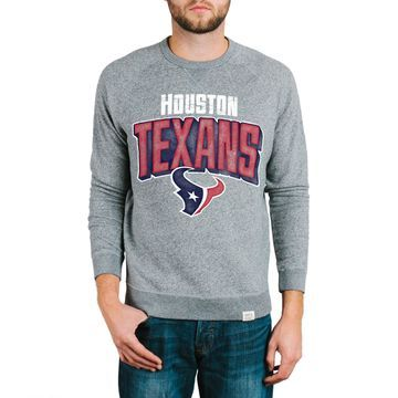 Houston Texans Junk Food Formation Fleece Sweatshirt - Gray