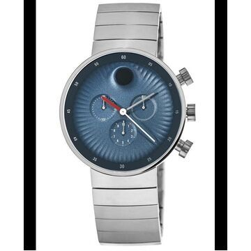 Movado Edge Blue Dial Stainless Steel Men's Watch 3680010 3680010
