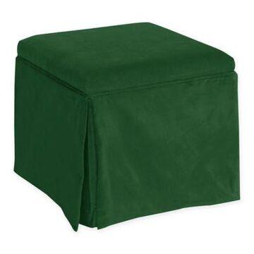 Skyline Furniture Nottingham Storage Ottoman in Fauxmo Emerald