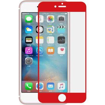 insten Edged Boundary Tempered Glass Screen Protector with Package For Apple iPhone 8 / iPhone 7 - Red