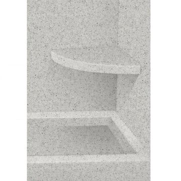 Transolid Matrix Dusk Solid Surface Wall Mount Shower Seat