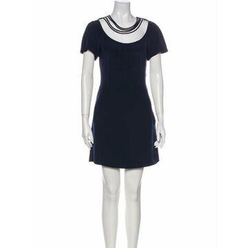 Silk Mini Dress Blue