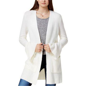 Kensie Womens Bell Sleeve Cardigan Sweater