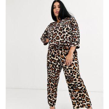Junarose leopard print pants-Multi