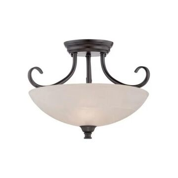 Designers Fountain 85111 Kendall 2 Light Semi Flush Ceiling Fixtures