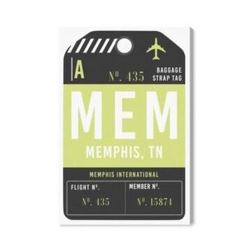 "Oliver Gal Memphis Luggage Tag Canvas Art - 15"" x 10"" x 1.5"""