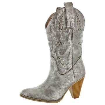 Volatile Nightbloom Women's Embroidered & Studded Fashion Western Boots