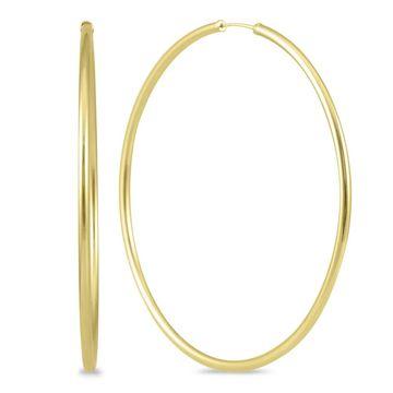 Marquee Jewels 14k Yellow Gold 60-millimeter Endless Hoop Earrings