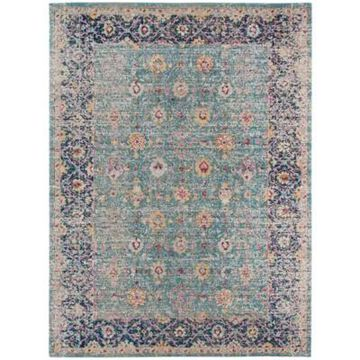 Amer Rugs Etracery Shey 7'6 X 9'6 Area Rug In Turquoise
