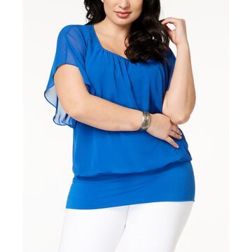 Plus Size Banded-Bottom Top, Created for Macy's