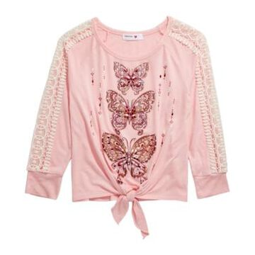 Beautees Big Girls Butterfly Top