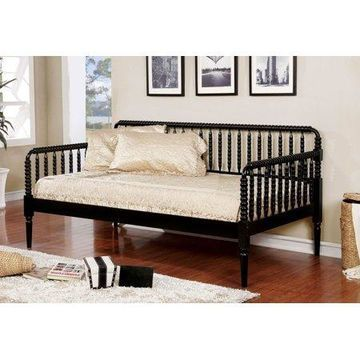 Furniture of America Transitional Black Daybed