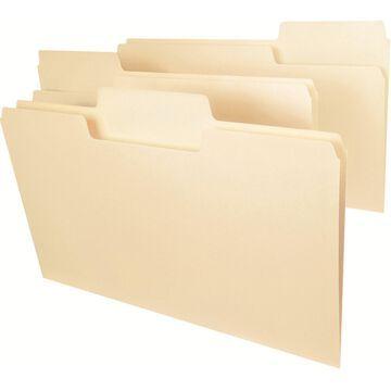 Smead 15301 SuperTab Folders Legal 1/3 Cut Tab 1-Ply 11pt 100/BX Manila