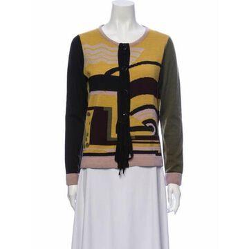 Virgin Wool Patterned Sweater Wool