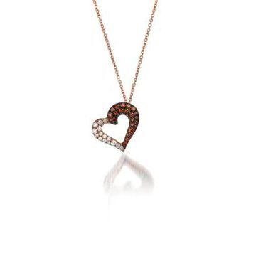 Le Vian Women Red Carpet Cherryberry Diamonds And Vanilla Diamonds Pendant In 14K Strawberry Gold - -