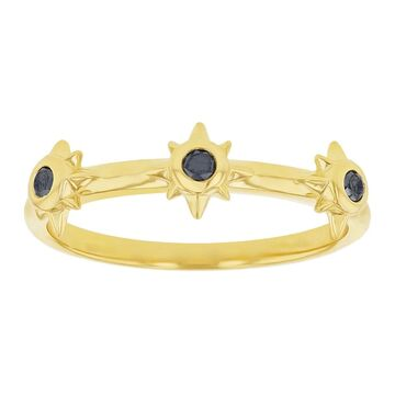 10K Yellow Gold 1/8ct. Black Diamonds 3 Stars Band Ring by Beverly Hills Charm (8)