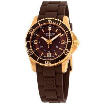 Victorinox Maverick GS Ladies Strap Watch - Brown & Gold-Tone Design