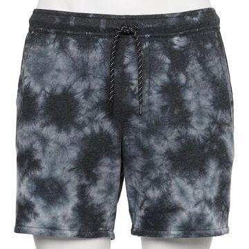 Men's Urban Pipeline Tie-Dye French Terry Shorts, Size: XL, Black