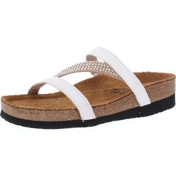 Naot Hawaii Women's Leather Embellished Strappy Slide Sandals