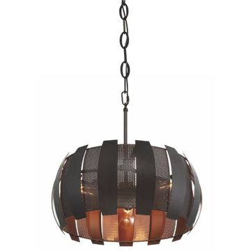 Varaluz Sawyers Bar Two-Tone Copper Ore Transitional Pendant Light