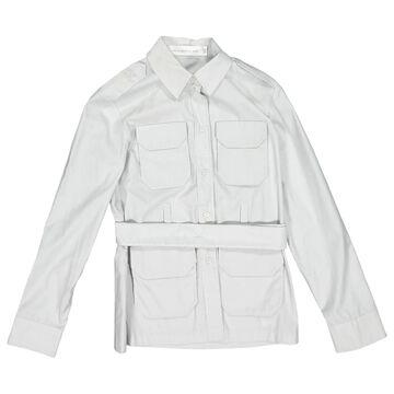 Victoria Beckham Grey Cotton Tops