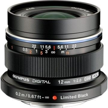 Olympus V311020BU001 Olympus M.Zuiko 12 mm f/2 Wide Angle Lens for Micro Four Thirds - Designed for Camera - 46 mm Attachment - 0.16x MagnificationOptical IS - MSC