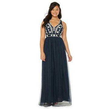 Trixxi Sleeveless Embroidered A-Line Dress-Juniors