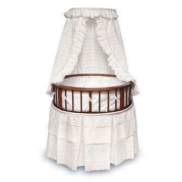 Badger Basket Elegance Round Bassinet with Canopy