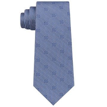 Sean John Blue Silver Men's One Size Hidden Dot Silk Slim Neck Tie