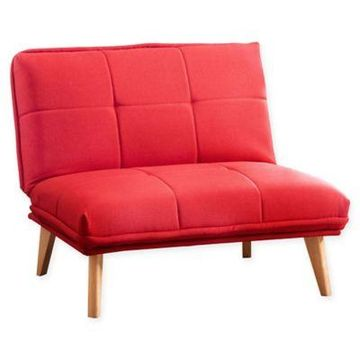 Abbyson Living Dalton Convertible Chair in Red