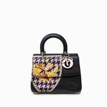 Dior Be Dior Navy Leather Handbag