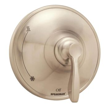 Speakman Chelsea Brushed Nickel 1-Handle Shower Faucet (Valve Not Included) | CPT-10000-P-BN